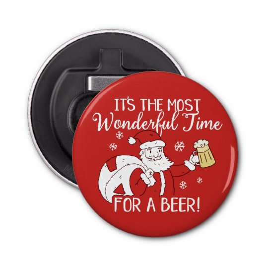 Christmas Most Wonderful Time for a Beer Santa