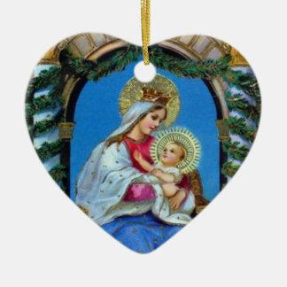 Christmas - Mother Mary and Jesus Christmas Ornament