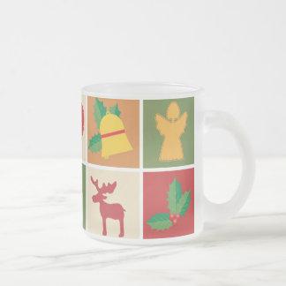 Christmas Motif Frosted 10oz mug