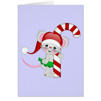 Christmas Mouse Candy Cane Card