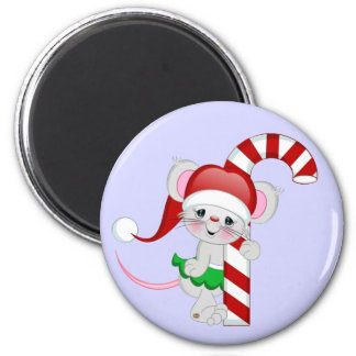 Christmas Mouse Candy Cane Magnet