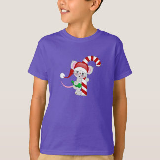 Christmas Mouse Candy Cane T-Shirt