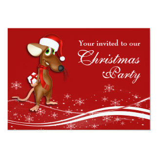 Christmas Mouse Company Christmas Party Card