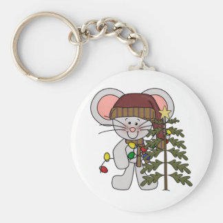 Christmas Mouse Decorating Tree Key Chains