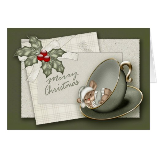 Christmas Mouse Greeting Card | Zazzle: www.zazzle.co.uk/christmas_mouse_greeting_card-137729186576507274