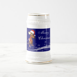 Christmas Mouse 18 Oz Beer Stein