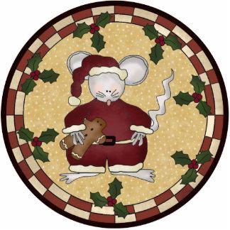 Christmas Mouse Ornament Photo Sculpture Decoration