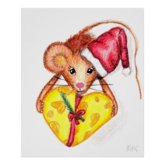 Christmas Mouse, poster