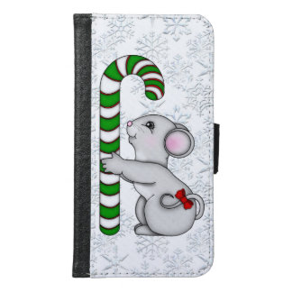 Christmas Mouse Samsung Galaxy s6 wallet case