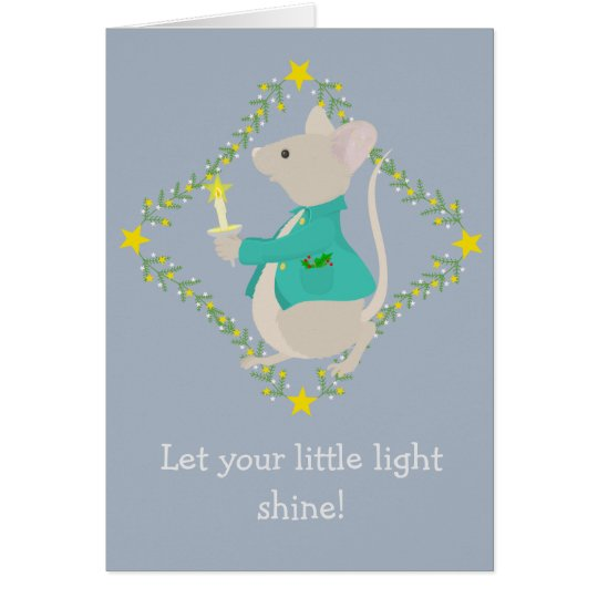 Christmas Mouse with Candle Greeting Card