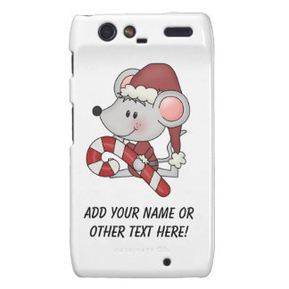 Christmas Mouse With Candy Cane Droid RAZR Case