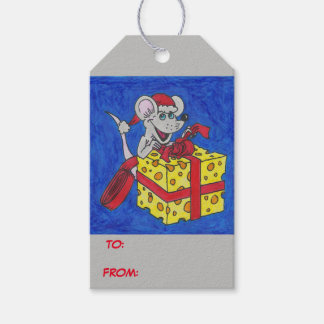 Christmas Mouse with Cheese Gift Tags