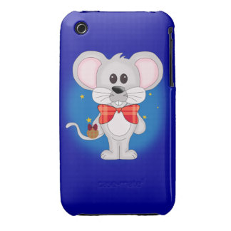 Christmas Mouse with Custom Text iPhone 3 Case-Mate Cases
