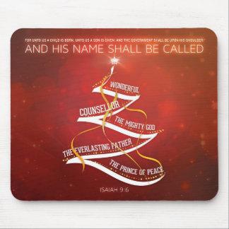 Christmas Mousepad - Isaiah 9:6 Bible Verse