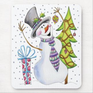 Christmas Mousepad / Mousemat Snowman