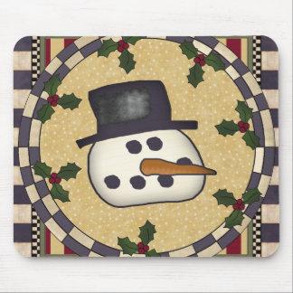 Christmas Mousepad - Snowman Face