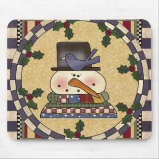 Christmas Mousepad - Winter Snowman