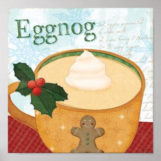 Christmas Mug with Eggnog Poster