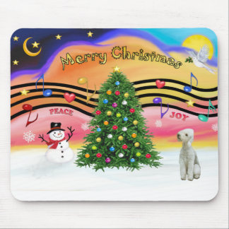 Christmas Music 2 - Bedlington Terrier Mouse Pad