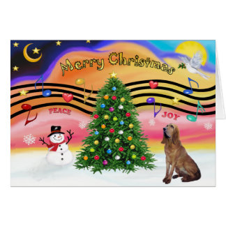 Christmas Music 2 - Bloodhound Card