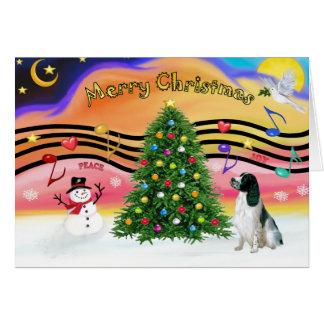 Christmas Music 2 - English Springer (BW) Greeting Card