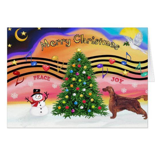 Christmas Music 2 - Irish Setter Card