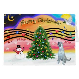 Christmas Music 2 - Irish Wolfhound (E) Card