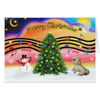 Christmas Music 2 - Lhasa Apso (R) Card