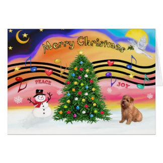 Christmas Music 2 - Norfolk Terrier Card