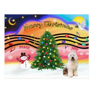 Christmas Music 2 - Old English Sheepdog 3 Postcards
