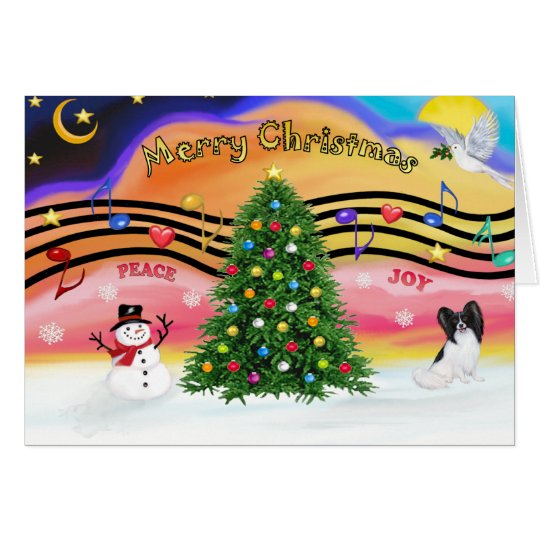 Christmas Music 2 - Papillon Card
