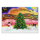 Christmas Music 2 - Papillons (two) Card