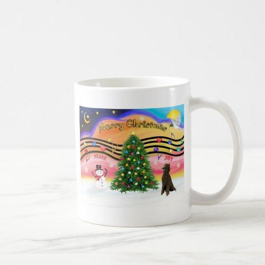 Christmas Music 2 - Poodle (Chocolate Standard) Coffee