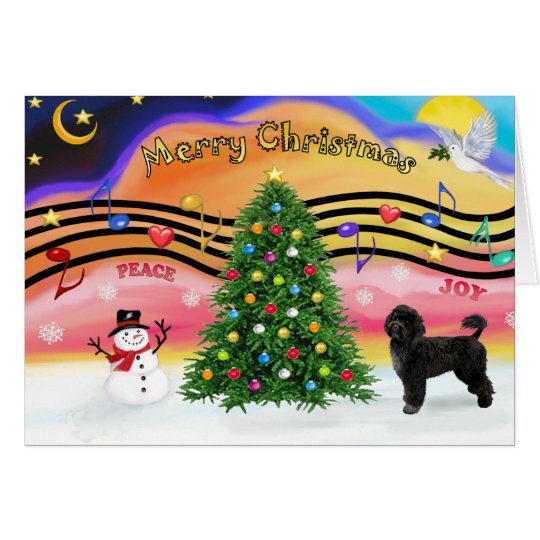 Christmas Music 2 - Portuguese Water Dog 2