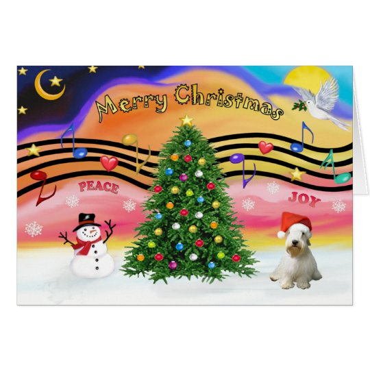 Christmas Music 2 - Sealyham Terrier (L) Card