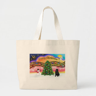 Christmas Music 2 - SharPei 6 (black) Large Tote Bag