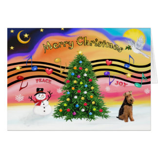 Christmas Music 2 - Welsh Terrier Card