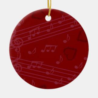 Christmas music notes christmas ornament