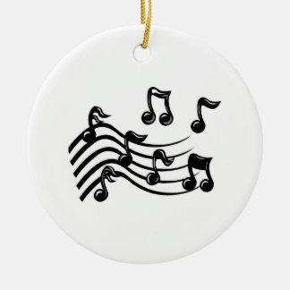 Christmas music notes christmas ornaments