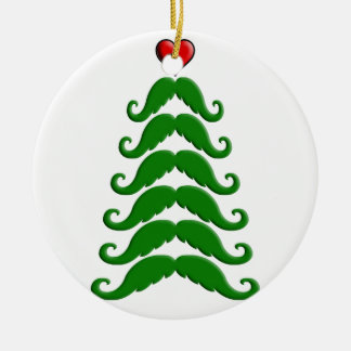 Christmas Mustache Tree Christmas Ornament