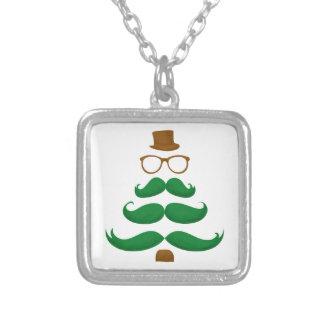 Christmas Mustache Tree Custom Necklace