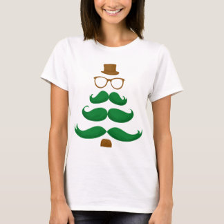 Christmas Mustache Tree T-Shirt