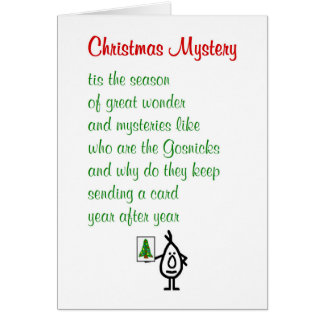 Christmas Mystery - a funny Merry Christmas poem Card