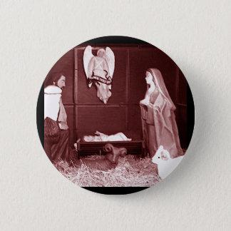 Christmas Nativity 6 Cm Round Badge