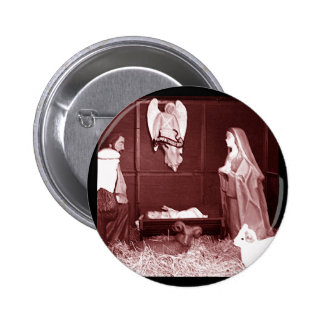 Christmas Nativity 6 Cm Round Badge