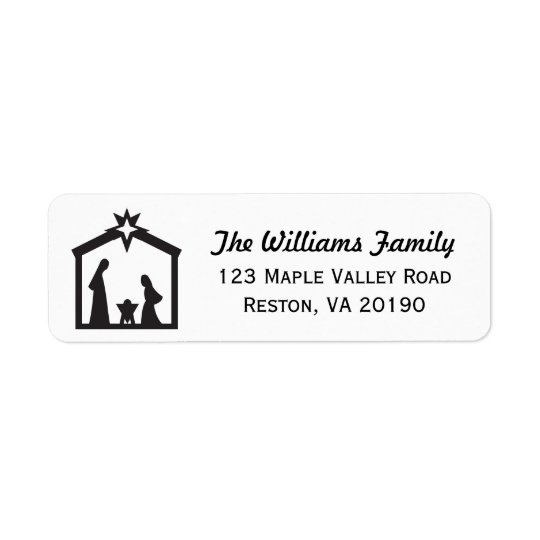 Christmas Nativity Address Labels