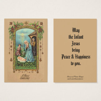 Christmas Nativity Greeting Holy Card