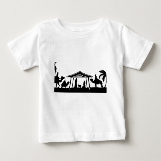 Christmas Nativity Scene Baby T-Shirt