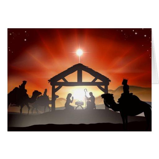 Christmas Nativity Scene Card