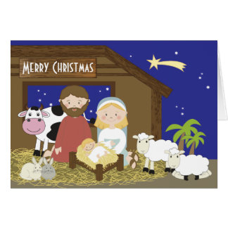 Christmas Nativity Scene Cards